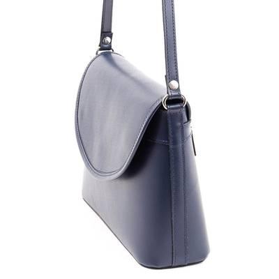 Kék női bőr táska