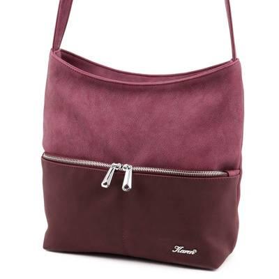 Karen bordó női rostbőr táska