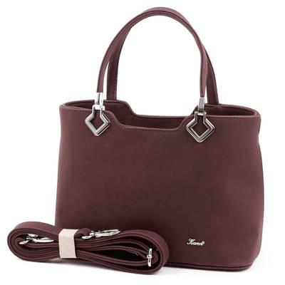 Karen bordó rostbőr női táska