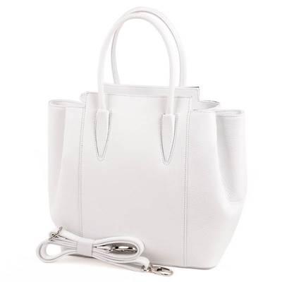 Fehér olasz bőr női táska