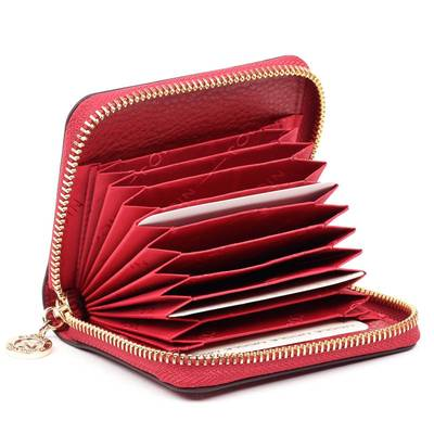 Nicole piros bőr kártyatartó
