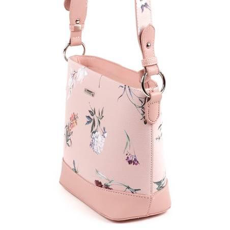 eb9af12c2410 David Jones rózsaszín virágos női táska #5400