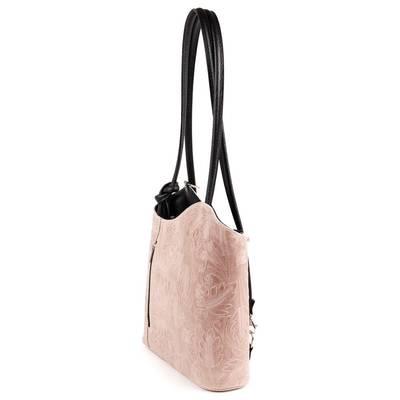 Drapp-fekete bőr női táska