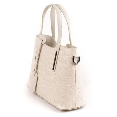 Bézs olasz bőr női táska