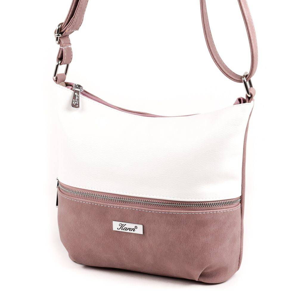 c0bce0d51c15 Velina Fabbiano fehér-pink divatos női táska #1541