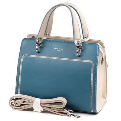 David Jones kék-bézs női táska