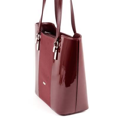 Via55 bordó rostbőr női táska