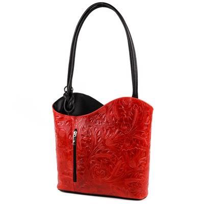Piros-fekete olasz bőr női...