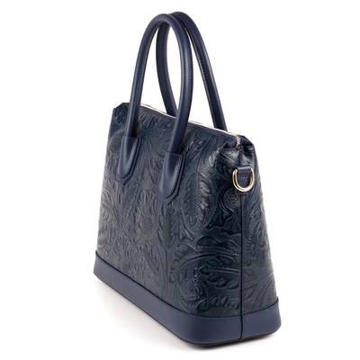 ed6bc7319f3b Kék olasz bőr női táska Kék olasz bőr női táska