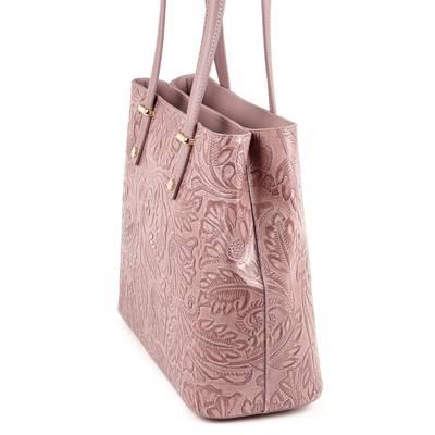 Sötétpúder bőr női táska