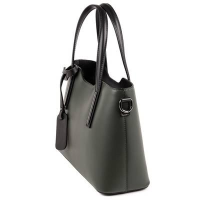 Zöld olasz bőr női táska