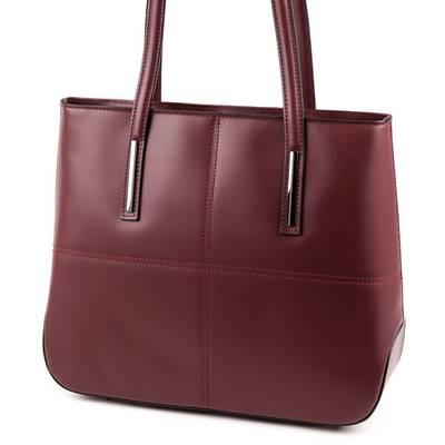 Burgundi vörös bőr női táska