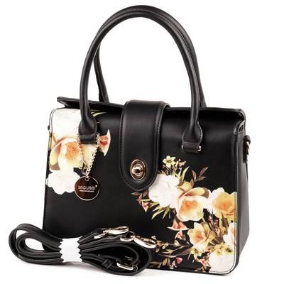 Micussi fekete virág mintás...