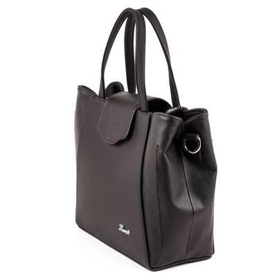 Karen fekete női rostbőr táska