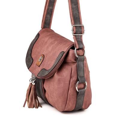 L&H Bags mályva-szürke női...