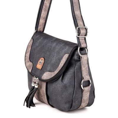 L&H Bags fekete-barna női...