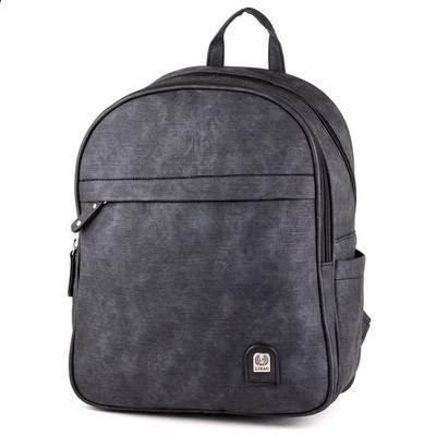 L&H Bags fekete női hátitáska
