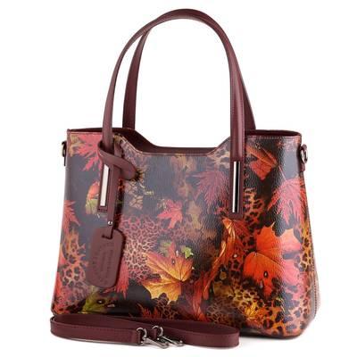 Bordó mintás bőr női táska