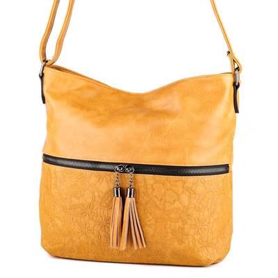 Gullig sárga női táska