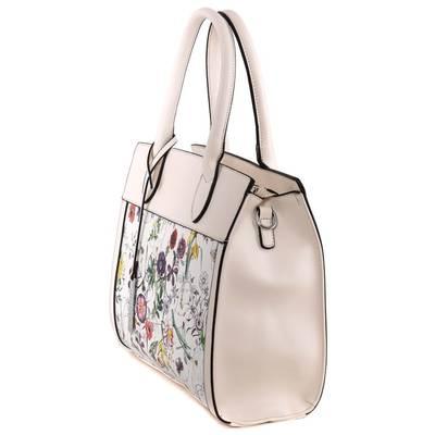 Dudlin bézs-fehér női táska