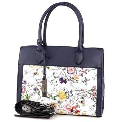 Dudlin kék-fehér női táska