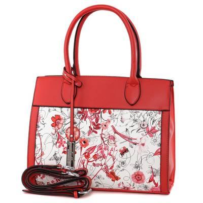 Dudlin piros-fehér női táska