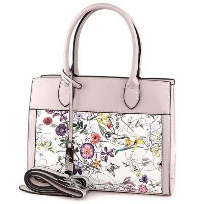 Dudlin szürke-fehér női táska