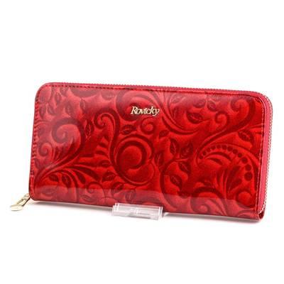 Rovicky piros bőr pénztárca
