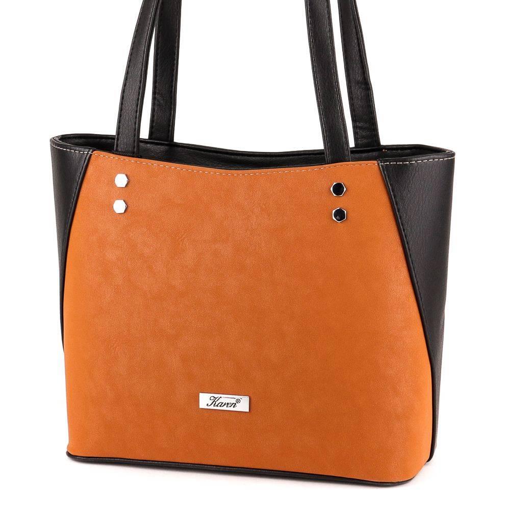 Karen fekete csaubarna női rostbőr táska #6083
