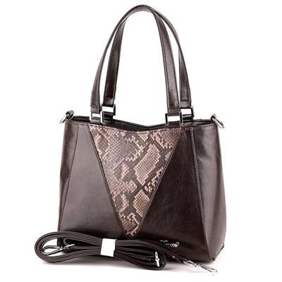 Karen barna női rostbőr táska