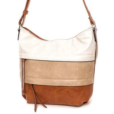 Dudlin barna-bézs női táska