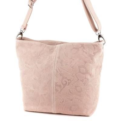 Púder színű női bőr táska