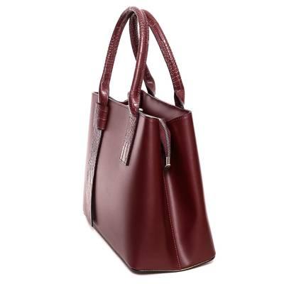 Bordó bőr női táska