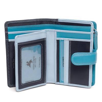 Visconti kék női bőr pénztárca