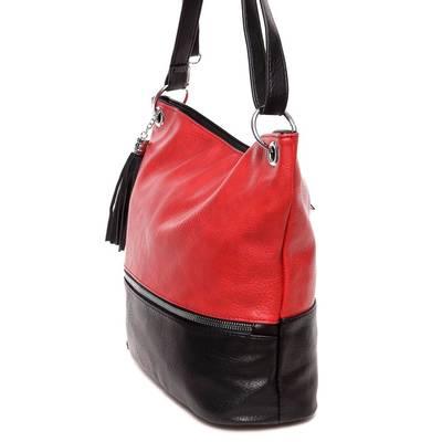 Hernan piros-fekete női táska