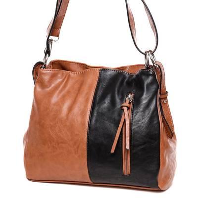 Hernan barna-fekete női táska