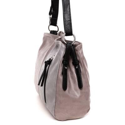 Hernan barna-szürke női táska