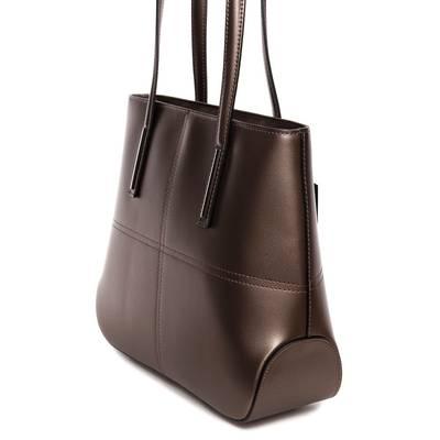 Bronz színű bőr női táska