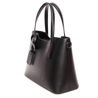 Fekete bőr női táska
