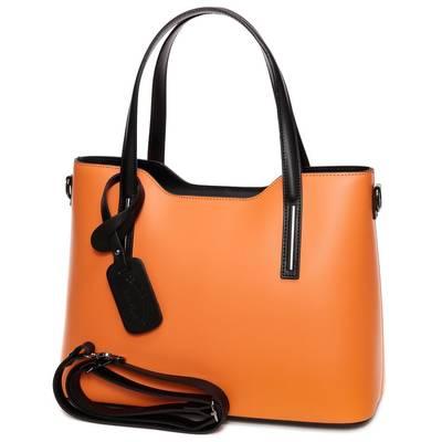Narancssárga-fekete bőr női...