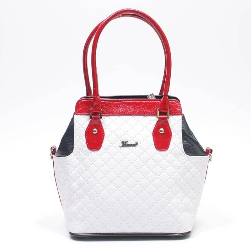 Karen fehér-kék-piros rostbőr női táska  725 c8854c297f