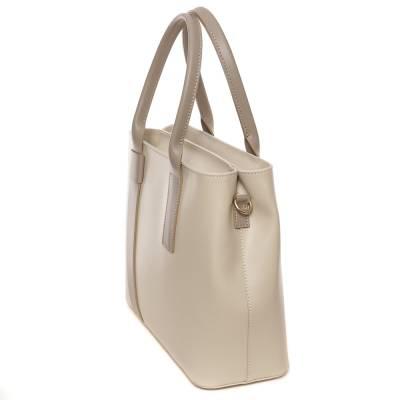 Bézs bőr női táska