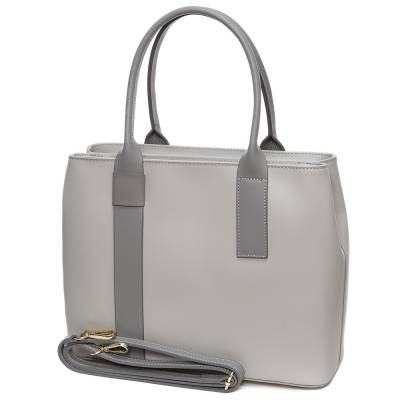 Szürke bőr női táska