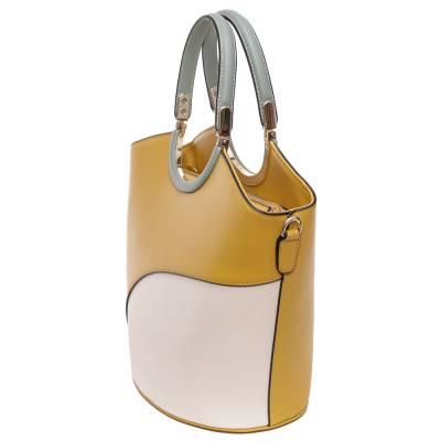 Micussi sárga-bézs női táska
