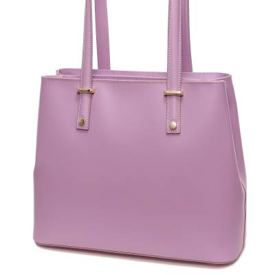 Lila bőr női táska