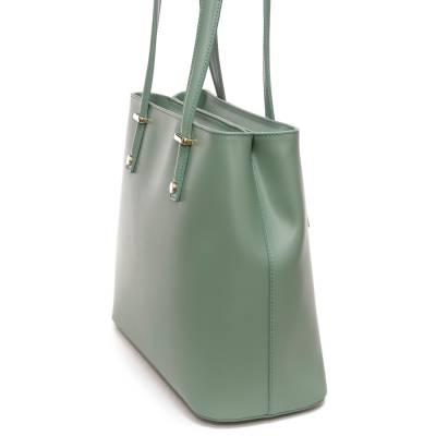 Mentazöld bőr női táska
