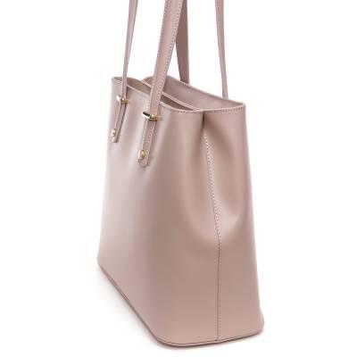 Világosbarna bőr női táska