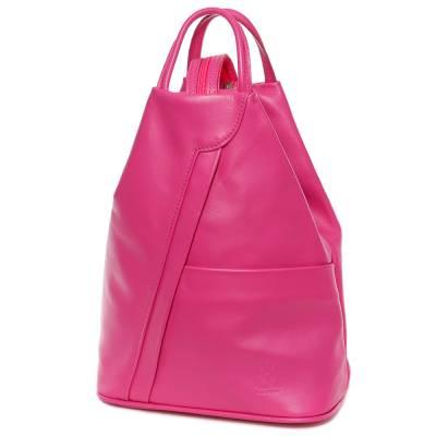 Pink bőr női hátitáska