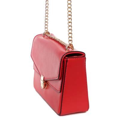 Dudlin piros női alkalmi táska