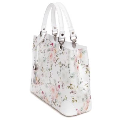 Fehér bőr női táska